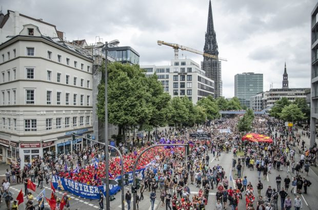Übersichtsfoto von Teilen der Demonstration. Foto: Tim Wagner
