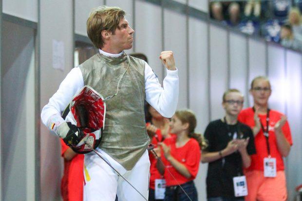 Der gesetzte Florett-Fechter Peter Joppich (Koblenz) griff erstmals in WM-Geschehen ein. Foto: Jan Kaefer