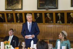 Tillich beim Empfang des Niederländischen Königspaars. Foto: SSK