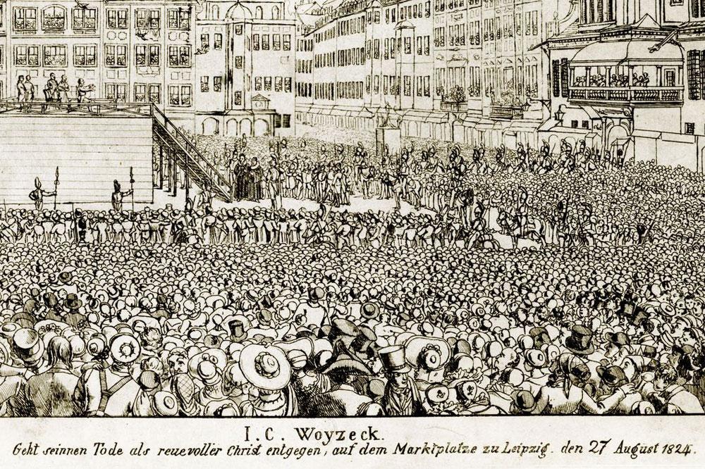 Woyzecks Hinrichtung. Quelle: Schaubühne Lindenfels