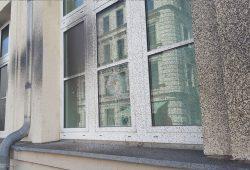 Die angegriffene Polizeiaußenstelle in der Weißenfelser Straße. Foto: L-IZ.de