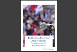 """Bertelsmann-Studie """"Die Stunde der Populisten?"""" Cover: Bertelsmann Stiftung"""