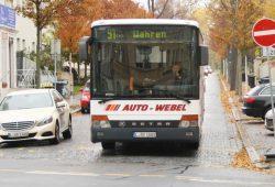 Bus 91 in Wahren. Foto: Ralf Julke