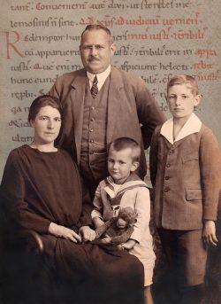 Familie Bühner. Foto: Universitätsbibliothek Leipzig