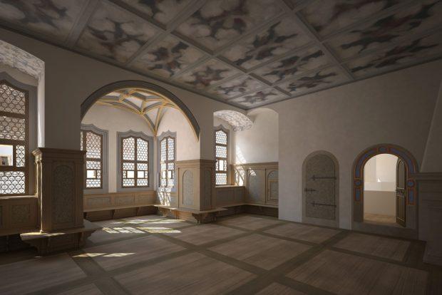 Visualisierung der Kurfürstlichen Gemächer im Schloss Hartenfels. Foto: Staatliche Kunstsammlungen Dresden