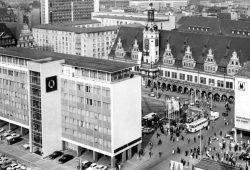 Markt mit Messeamt. Foto: Stadtarchiv Leipzig