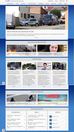 MDR_Homepage am 1. Juli 2017: ein klassisches Nachrichtenportal. Screenshot: L-IZ