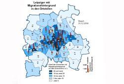 Migranten nach Ortsteilen, Grafik: Stadt Leipzig, Amt für Statistik und Wahlen