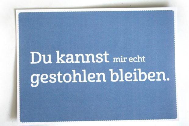 Postkarte der LWB: Du kannst mir echt gestohlen bleiben. Foto: Ralf Julke