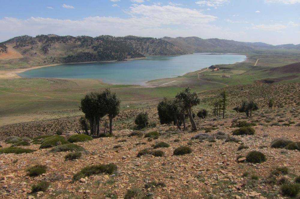 Der Sidi Ali-See im Mittleren Atlas Marokkos liegt auf einer Höhe von 2.080 Metern über dem Meeresspiegel und befindet sich unmittelbar am Nordrand der Sahara. Foto: Institut für Geographie/Universität Leipzig