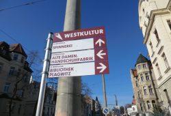 Wegweiser zur Westkultur. Foto: Marko Hofmann