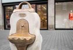 Der Wiener Brunnen in der Petersstraße. Foto: Leipziger Gruppe