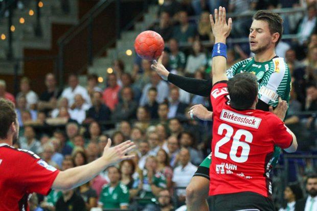 Neuzugang Yves Kunkel war mit sieben Treffern bester Torschütze der Partie. Foto: Jan Kaefer