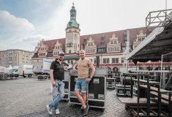 """Der Countdown läuft. Erstmals halten Martin Koslik und Ronny Winkler (v. l.) von """"koslik & friends"""" als Veranstalter der Classic Open die Fäden in der Hand. Foto: SINNergy/Roman Friedrich"""