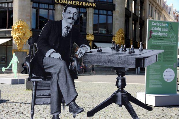Vergessene jüdische Sportler: Rekord-Weltmeister im Schach, Emanuel Lasker. Foto: Michael Freitag