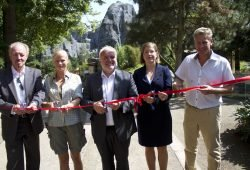 45 Offizielle Eröffnung der Hochgebirgslandschaft Himalaya – Peter Rasbach, Kirsten Roth, Jörg Junhold, Skadi Jennicke, Eberhard Brandes (v.l.n.r.). Foto: Zoo Leipzig