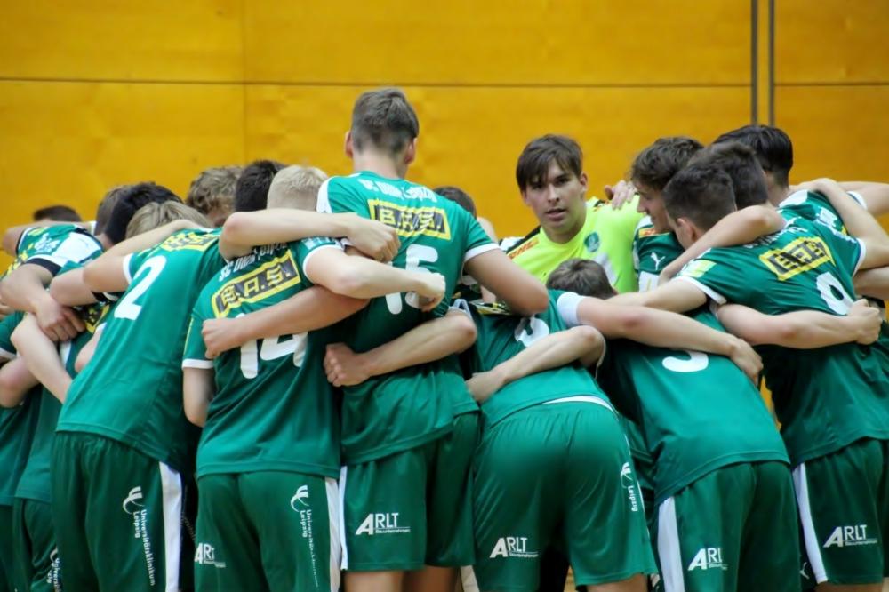 Die A-Jugend des SC DHfK Leipzig. Foto: Steve Löser
