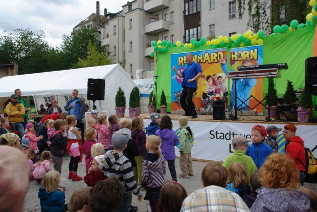 Kindermitmachkonzert mit Reinhard Horn. Foto: Springmäuschen