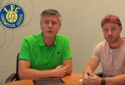 """Norman Landgraf und Martin Hoch vom Heimspiel TV beim """"Vorspiel"""" dieser Woche. Foto: Videoscreen"""