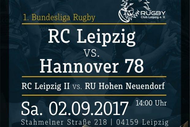 Saisonstart für das Bundesliga-Team des RC Leipzig. Quelle: Rugby Club Leipzig e.V.