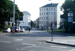 Teil der Nordtangente: Berliner Straße an der Gerberstraße. Foto: Ralf Julke