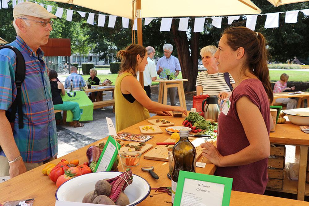 Diskussionen über die Landwirtschaft im Raum Karlsruhe. Foto: Benjamin Knispel/WWF
