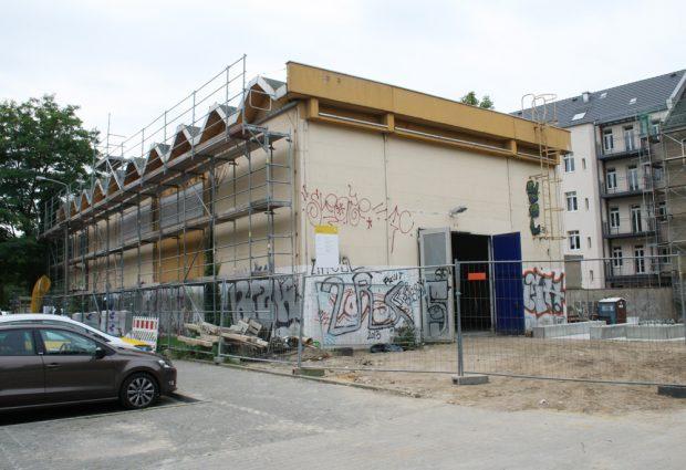 Ehemalige Trafo-Station in der Hildegardstraße von außen. Foto: Ralf Julke