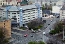 Nordtangente: Kreuzung Berliner Straße / Eutritzscher Straße. Foto: Ralf Julke