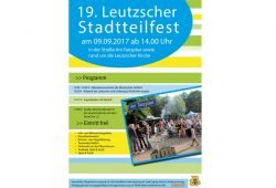 Plakat: BürgerVerein Leutzsch
