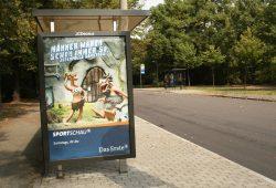Werbe-Display mit Fersehwerbung. Archivfoto: Ralf Julke