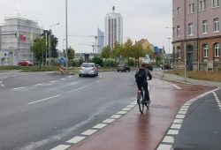 Radfahrer an der Brandenburger Straße. Foto: Marko Hofmann