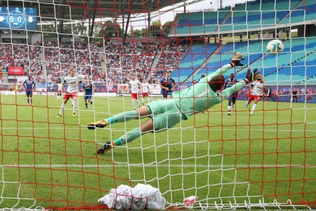 RBL unterliegt Stoke City mit 1:2. Foto: RB Leipzig