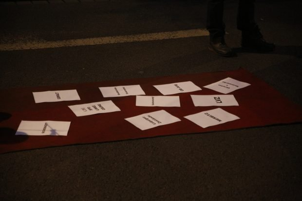 """Der """"Filzteppich"""". Und morgen geht die Welt unter. Versprochen! Foto: L-IZ.de"""