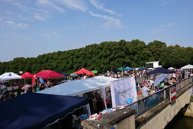 """Brückenfest 3.0. Foto: """"Leipzig nimmt Platz"""""""