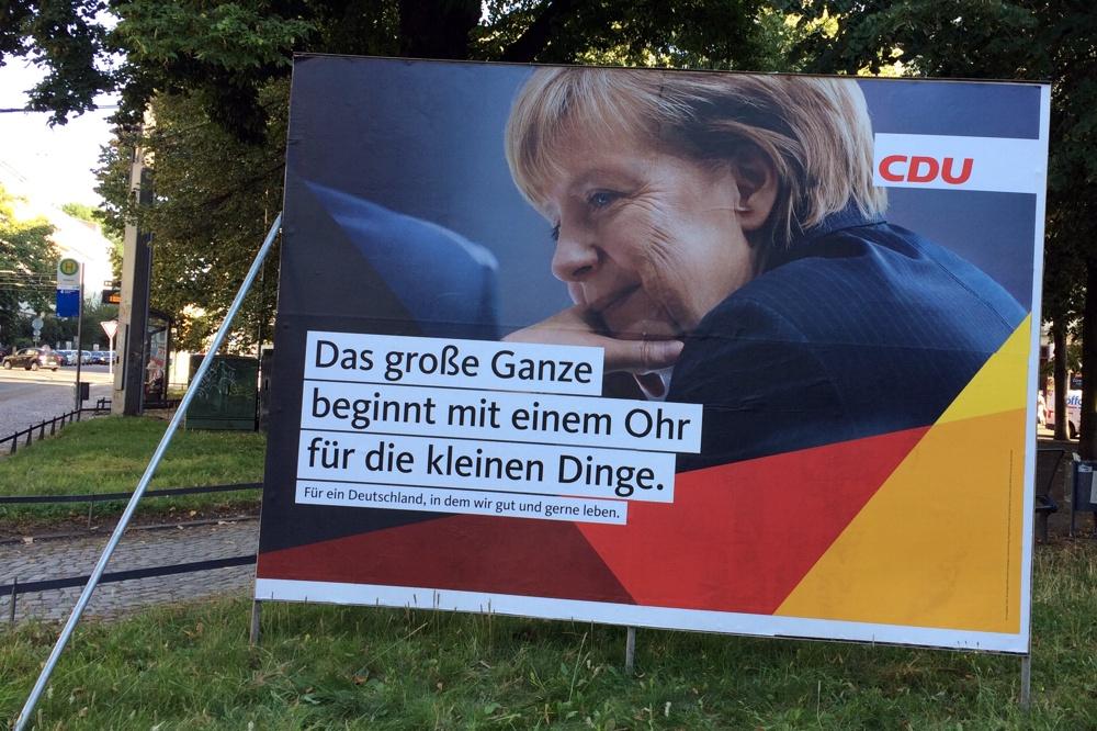 Feelgood-Kampagne der CDU auf dem Leipziger Waldplatz. Klappt es wirklich mit dem Zuhören? Wählen Christen automatisch CDU? Foto: L-IZ.de