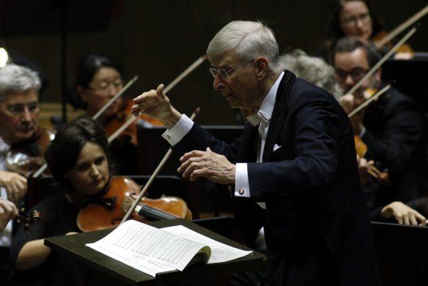 Herbert Blomstedt dirigerte das Eröffnungskonzert. Foto: Alexander Böhm