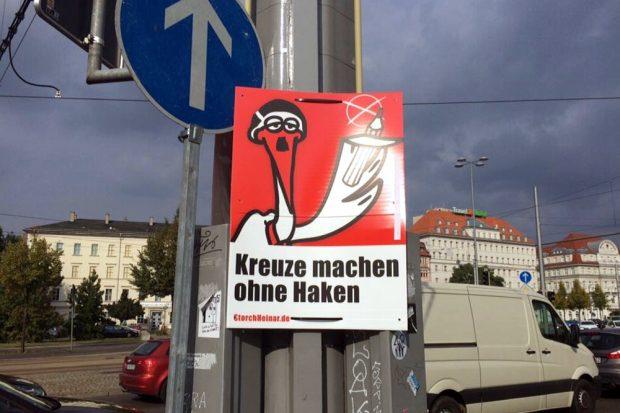 Das 11. Gebot: Du sollst keine Hakenkreuze machen. Foto: L-IZ.de