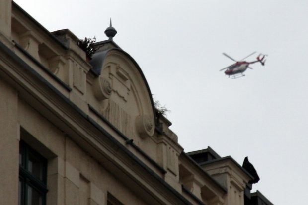 Der übliche Helikopter in der Luft. Foto: L-IZ.de