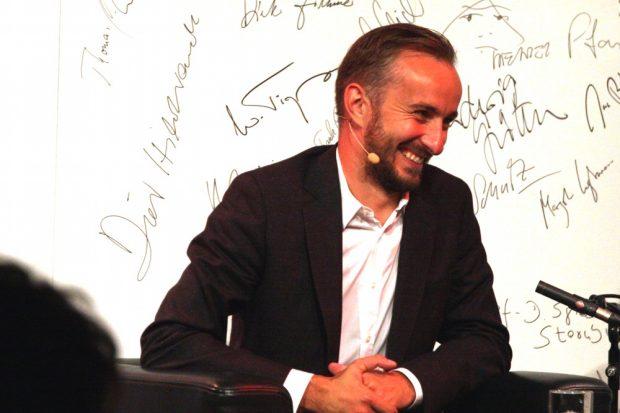 Jan Böhmermann beim Leipziger Gespräch am 4. September 2017 in der Villa Ida. Foto: L-IZ.de