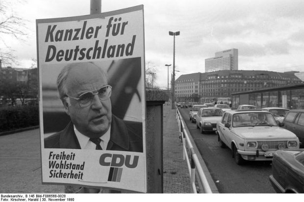 Bundestagswahlkampf am Hauptbahnhof Leipzig. Foto: Harald Kirschner, CC-BY-SA 3.0