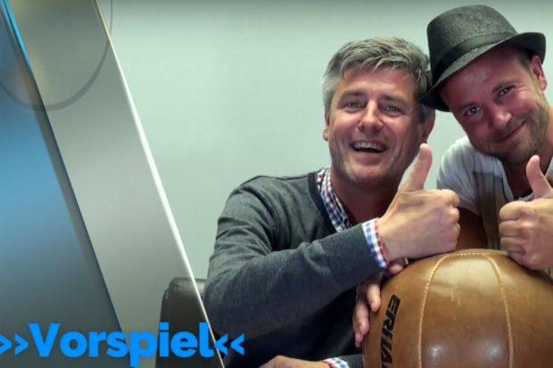 Norman Landgraf und Martin Hoch lieben Bälle. Screen Heimspiel TV