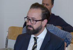Der sächsische Justizminister Sebastian Gemkow (CDU) während eines Prozesses im Amtsgericht Leipzig. Foto: Lucas Böhme