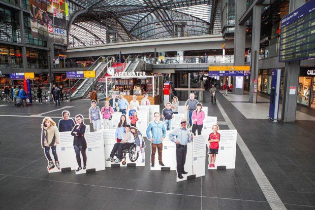 Die VUD-Roadshow startete im März auf dem Berliner Hauptbahnhof, und kommt nun ab 15. September nach Leipzig. Foto: VUD