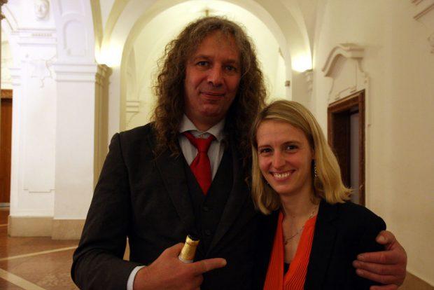 Franziska Riekewald (Linke) und Kuno Kumbernuß (Die Partei). Foto: L-IZ.de
