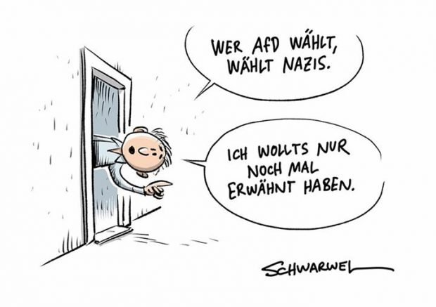 Übrigens ... Karikatur: Schwarwel