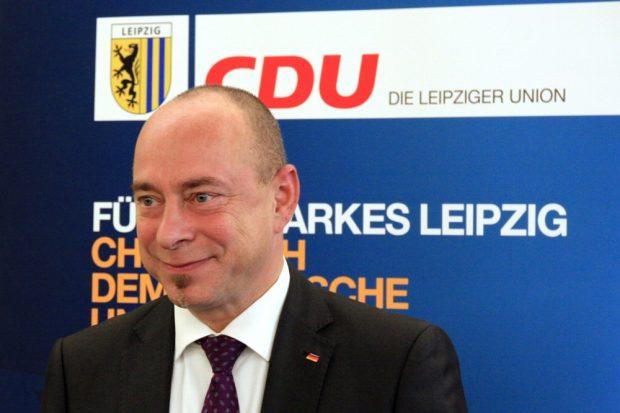 Thomas Feist bei seiner Nominierung zum Bundestagskandidaten für die CDU im Wahlkreis 153. Foto: L-IZ.de