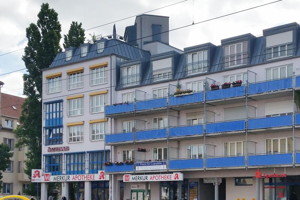 Ärztehaus in der Lützner Straße. Foto: Marko Hofmann