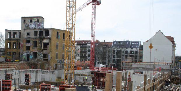 Wohnungsbau - hier in derr Scheffelstraße. Foto: Ralf Julke