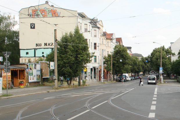 Bornaische Straße am Connewitzer Kreuz. Foto: Ralf Julke