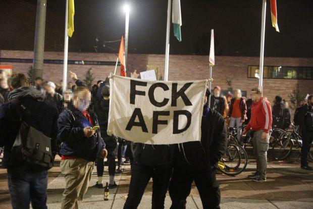 Nein zur AfD heißt der Leitspruch des Abends. Foto: L-IZ.de